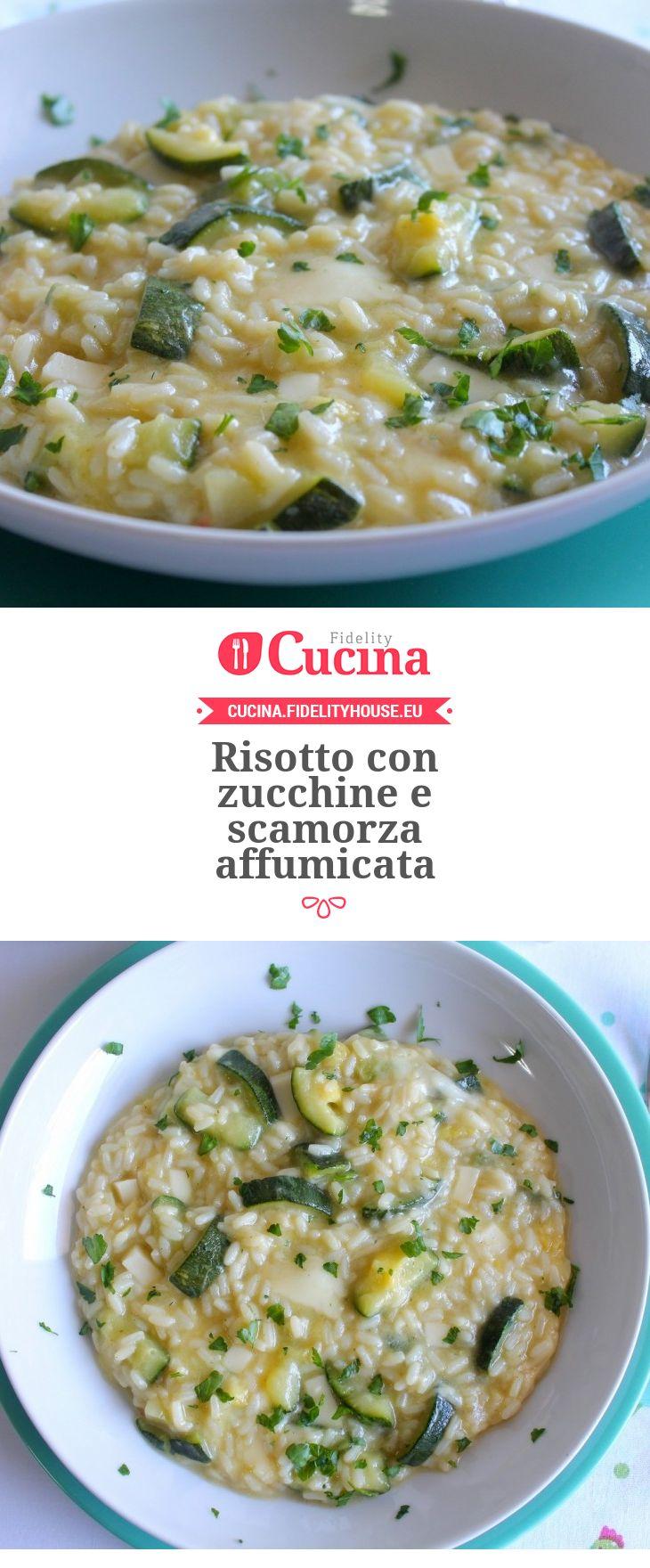 Risotto con zucchine e scamorza affumicata