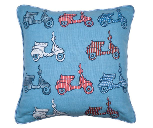 Pillowcover - SCOOTER - Light blue