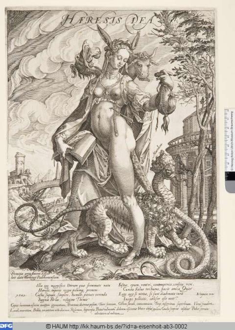 Antonius Eisenhoit (around 1553-1603)... print ...Haeresis Dea... 1589