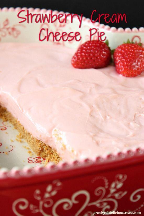 ... Strawberry Cream Cheese Pie on Pinterest | Cream Cheese Pie, Cheese
