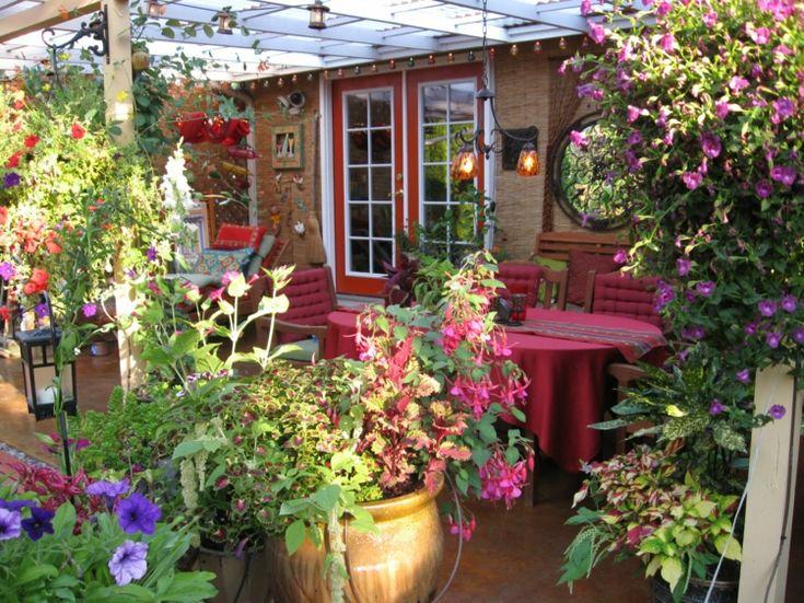 30 besten Innenhof Ideen Bilder auf Pinterest Gartendekoration - mediterrane terrassenberdachung