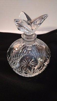 Vintage Apple Shaped Glass Perfume Bottle