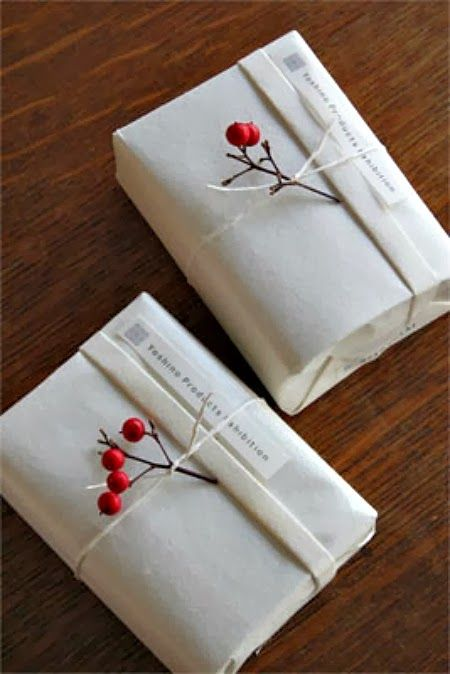 Gift wrap ideas...such simple clean lines...