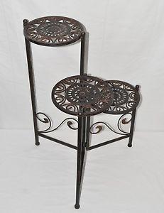 Details zu  Nostalgie Blumentreppe Metall schwarz 3 Ebenen Used Look Shabby Art Deco Stil
