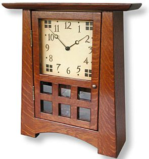Craftsman style Arroyo Seco mantle clock. #doornmore #Craftsman
