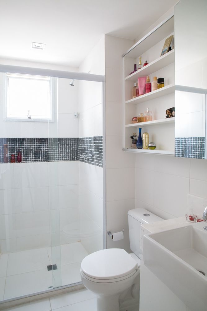 Più di 25 fantastiche idee su Pastilha No Banheiro su Pinterest  Pareti pias # Banheiro Com Faixa De Pastilha Preta