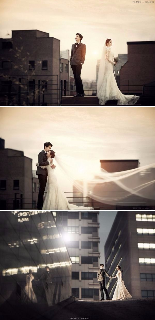 Stunning Sunset Rooftop Pre-wedding Photoshoot in Korea - Timetwo Studio, City, Sunset, Outdoors