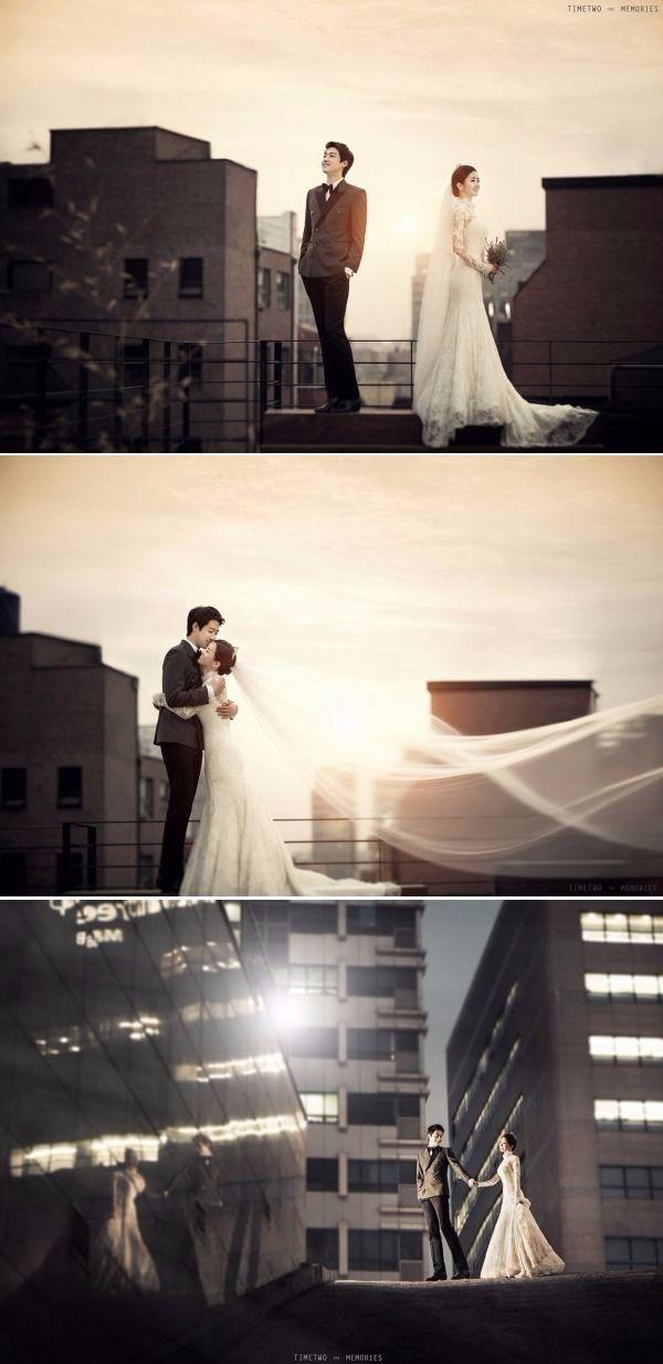 Stunning Sunset Rooftop Pre-wedding Photoshoot in Korea - Timetwo Studio, City, Sunset, Outdoors