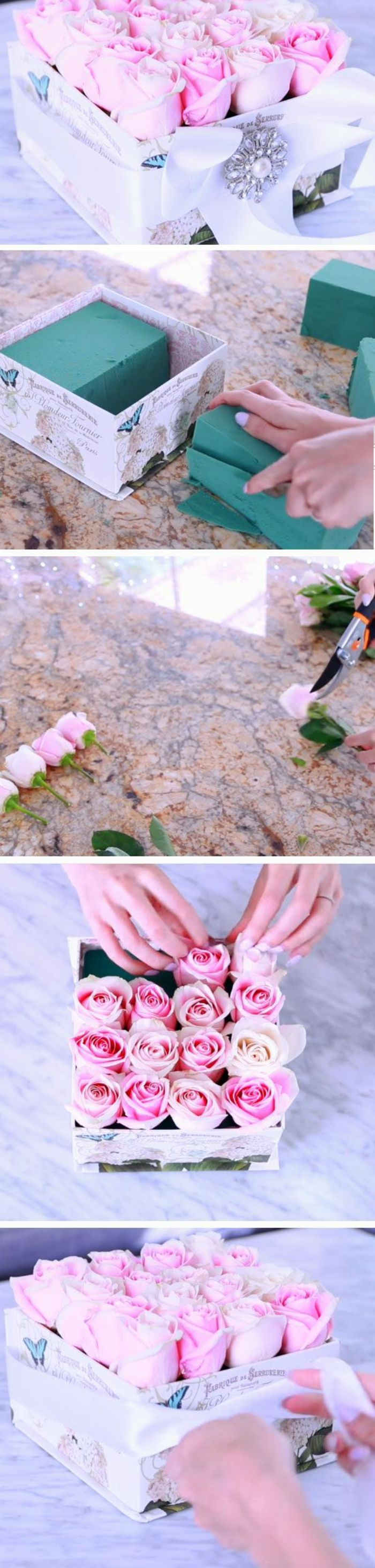 wie die Blumen zu ordnen in einer Schachtel   Muttertags Geschenkideen