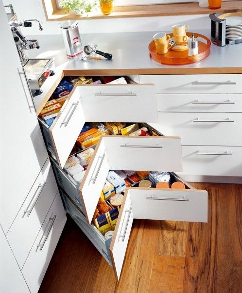 This clever kitchen storage solution lets you utilise the wasted space behind the plinth. Description from kitchenfindr.co.uk. I searched for this on bing.com/images