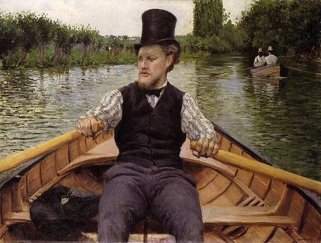 Top hat. Gustave Caillebotte was a French painter, member and patron of the group of artists known as Impressionists, though he painted in a much more realistic manner than many other artists in the group.