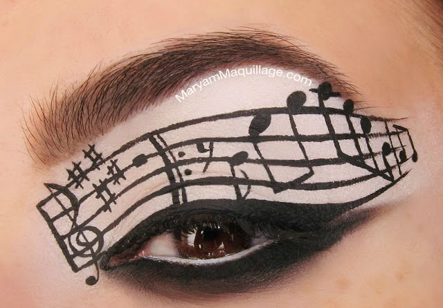 A little too over the top? #Music #makeup #art