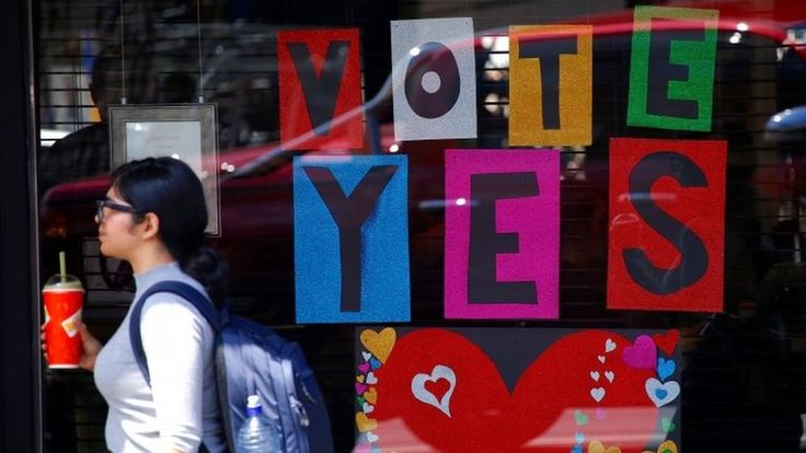 Australia same-sex marriage: Results expected imminently https://tmbw.news/australia-same-sex-marriage-results-expected-imminently  The result of Australia's vote on legalising same-sex marriage is being announced soon.Opinion polls throughout the vote have put the Yes campaign ahead, which supports a change in the law.About three quarters of the electorate - more than 12.6 million people - took part in the eight week-postal survey.Prime Minister Malcolm Turnbull supports marriage equality…