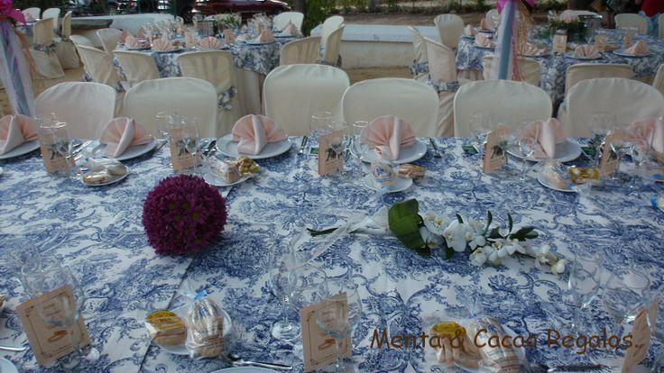 Mesa nupcial boda V & A .