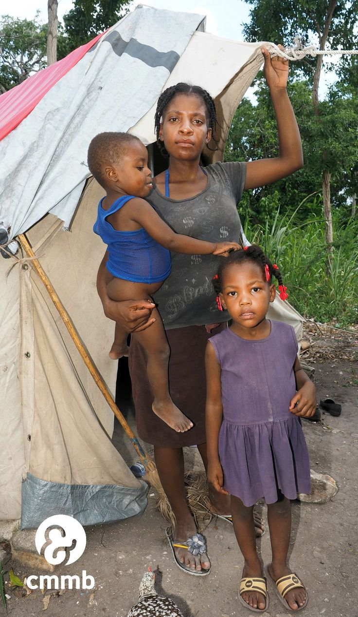 Meet Juslene, her son Jameson and her daughter Jennifer.  Juslene is 6 months pregnant and has a toddler, but that doesn't stop her walking 8 hours a day to make sure her oldest daughter Jessica goes to school. Abandoned by her husband and living in a tent, she is working hard to ensure her children have a better life than this.