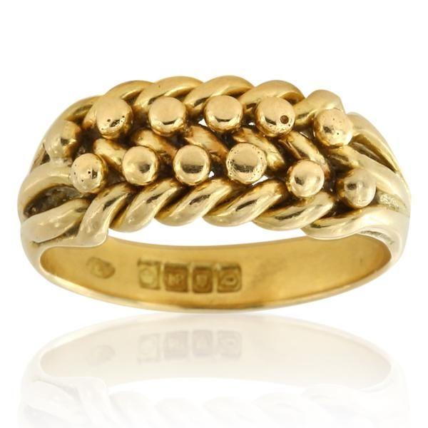Wheatsheaf Harvest style ring in 18ct yellow gold. Hallmarked: London 1919.