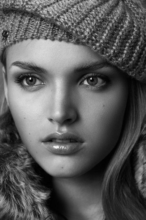 Fashion portrait woman  #beauty #beauties #blackandwhite #portrait #cup #hat #lips #russian #girl #woman #eyes #blueeyes #skin #hair #fashion #modeltest #cute #beautiful