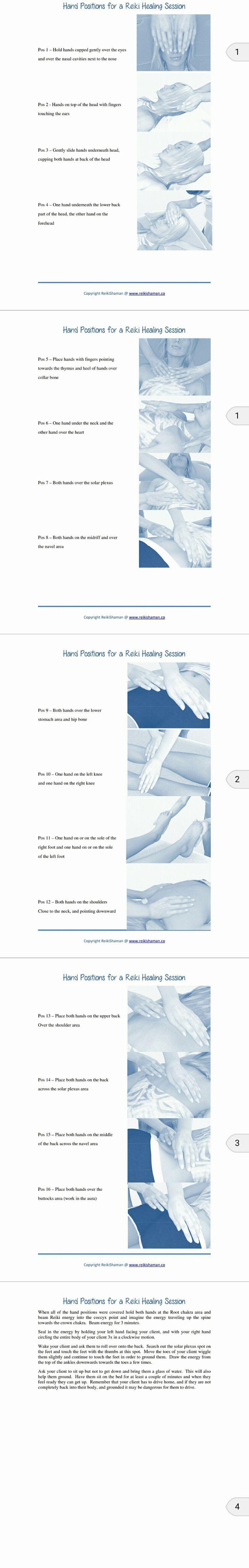 Reiki Hand Positions Free Print-outs | ReikiShaman