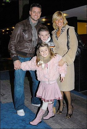 keith with wife lisa, son Jordon and daughter mia