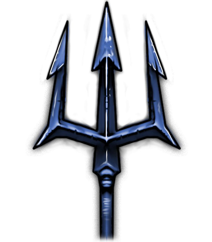 Blue Steel Trident Tattoo Ideas