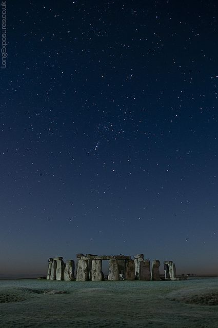 As old as... By AndWhyNot A single frame from yesterday's stack, picked due to the lack of light trails along the horizon. Coincidentally it shows Orion's constellation directly above the stones.