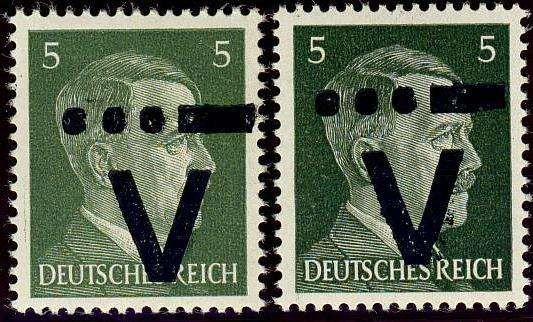 German Local Issue, Westerstede 1945, nicht amtliche Ausgabe, 5 Pfg., in beiden Farben (grün und dunkelgrün), postfrisch Pracht, Gesamtauflage 7.500,-- Stück, die b-Farbe ist selten (postfr., Mi.Nr.III a,b). Price Estimate (8/2016): 15 EUR.