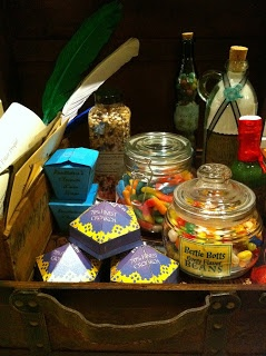 how to make a harry potter gift basket