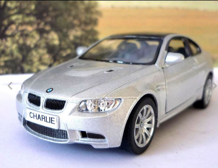 Personalised Plates Gift Silver BMW M3 Coupe Boys Toy Car