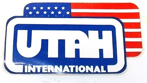 UTAH International 1990:s decal