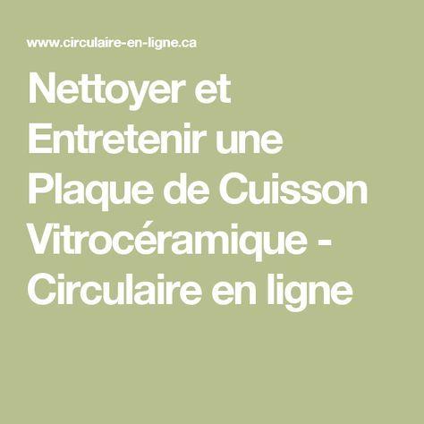 Nettoyer et Entretenir une Plaque de Cuisson Vitrocéramique - Circulaire en ligne