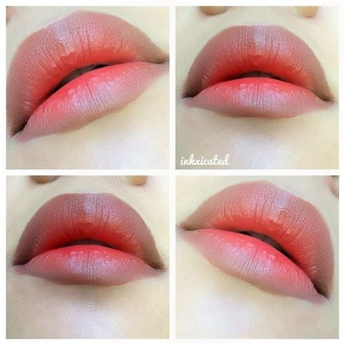 ombre lips | Tumblr