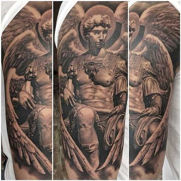 12 besten angel tattoos bilder auf pinterest engel tattoo engelchen und beeindruckende tattoos. Black Bedroom Furniture Sets. Home Design Ideas