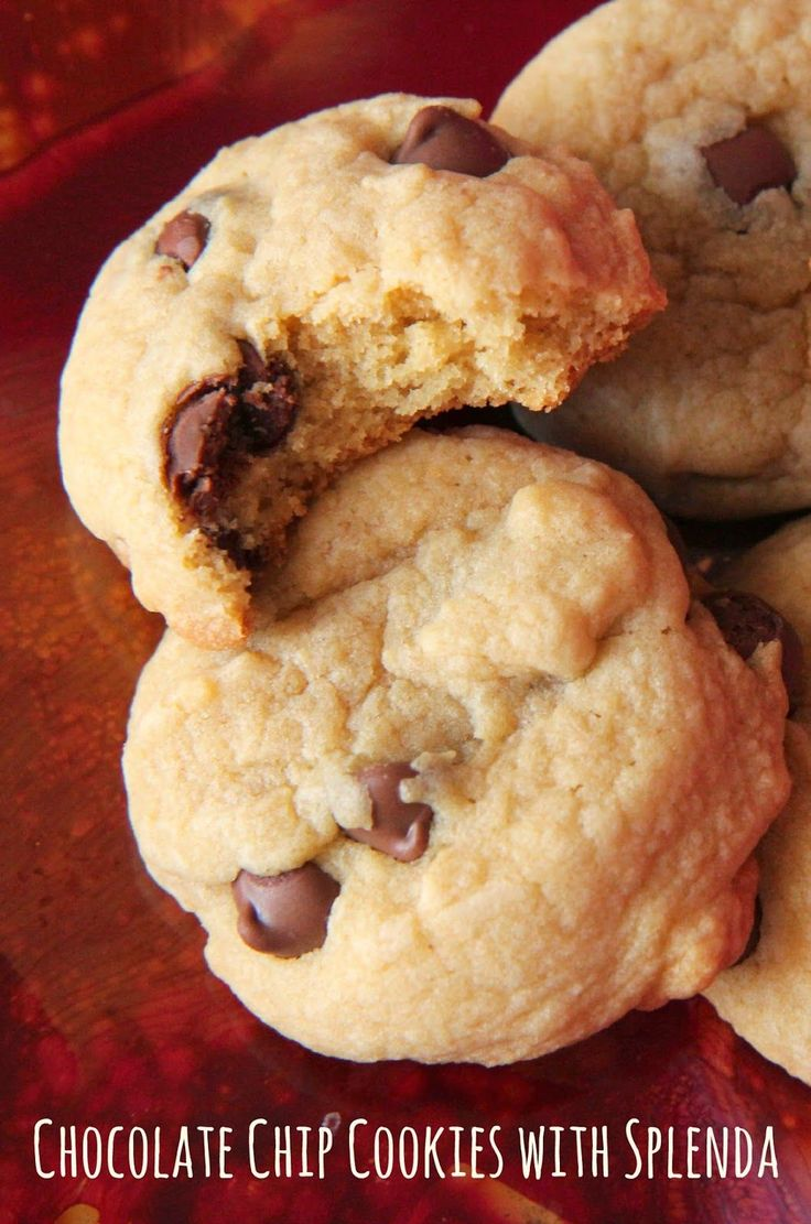 Amazingly delicious Chocolate Chip Cookies made with Splenda