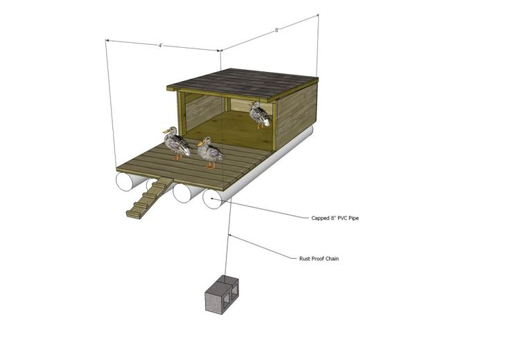 Floating duck house floating duck house plans free for How to build a duck shelter