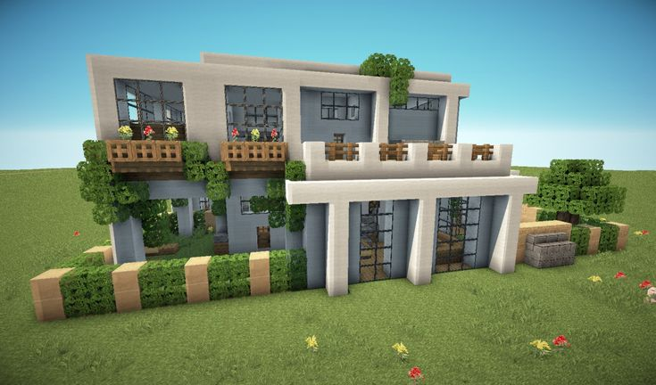 First modern house minecraft project minecraft for Building a modern home for 100k