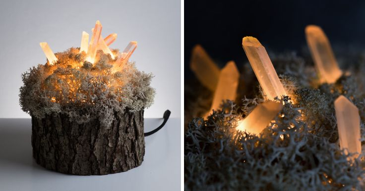 We are a couple of Lithuanian artists called Shroom in the Room and we simply believe that crystals are awesome. There is something magical about them when they glow.  We created a small world, a miniature landscape which will surely make one's imagination run wild.