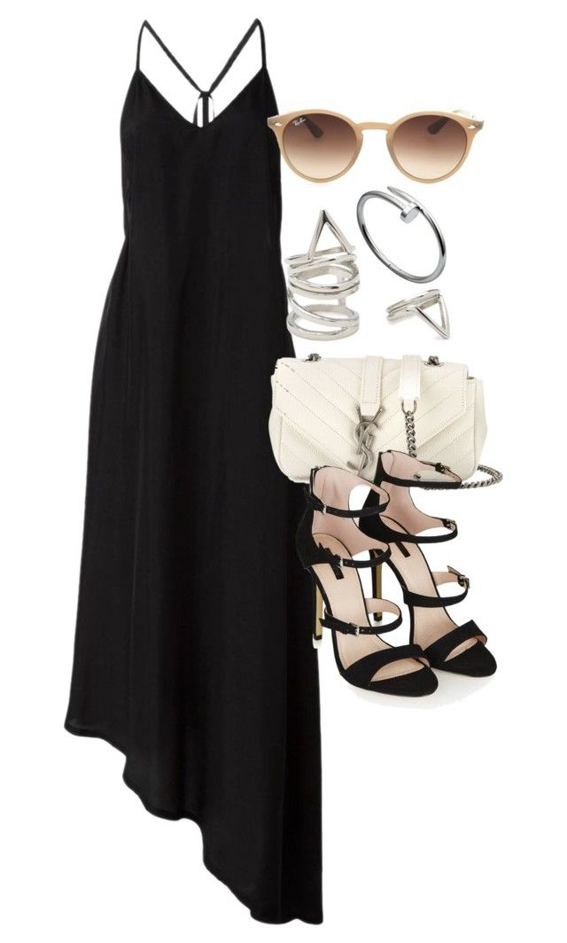 """Style #10131"" by vany-alvarado ❤ liked on Polyvore featuring Nostra Santissima, Yves Saint Laurent, Topshop, Ray-Ban and Forever 21"