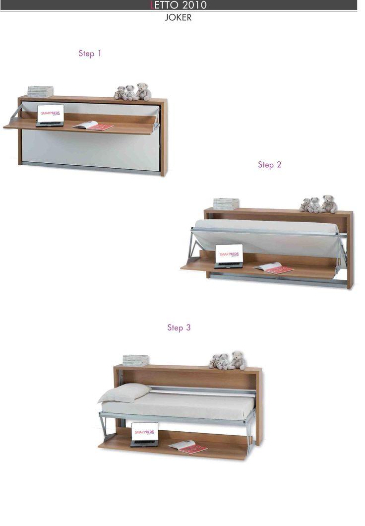 Oltre 20 migliori idee su scrivania a scomparsa su pinterest scrivania pieghevole stoccaggio - Mobile letto singolo richiudibile ...