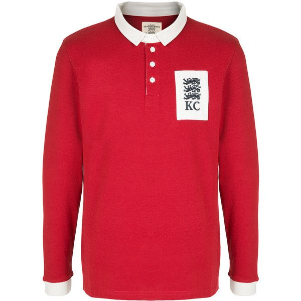 Kent & Curwen logo patch polo shirt (2.308.600 IDR) ❤ liked on Polyvore featuring men's fashion, men's clothing, men's shirts, men's polos, red, men's cotton polo shirts, mens polo shirts, mens cotton shirts, mens red shirt and mens red polo shirt