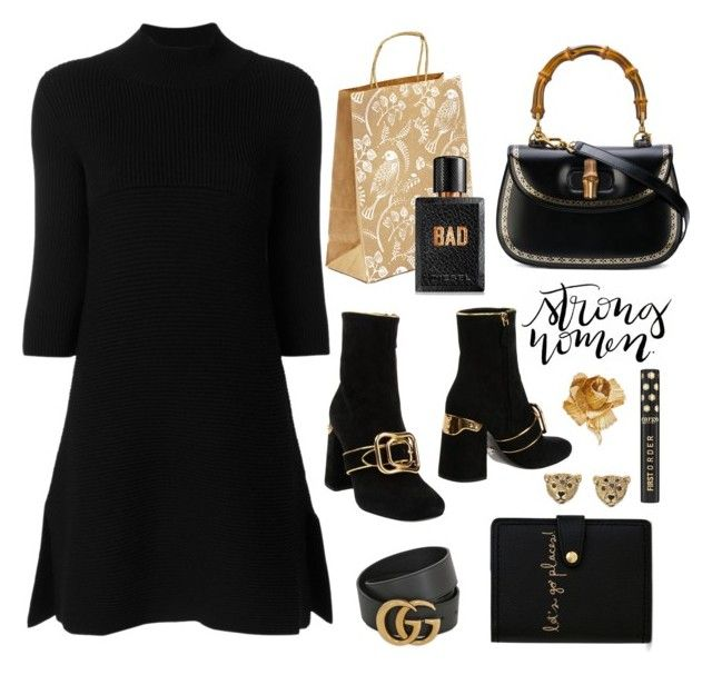 """a Strong Woman"" by ms-wednesday-addams ❤ liked on Polyvore featuring Vera Bradley, Prada, Diesel, Kate Spade, Gucci, STELLA McCARTNEY and Christian Dior"