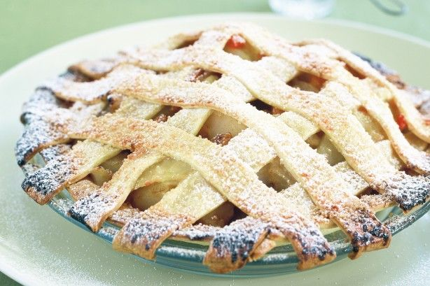 Warm, sweet pies are made for cold winter weather, so tuck into this apple and apricot treat.
