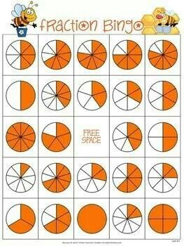 Rekenen, bovenbouw, breuken bingo.