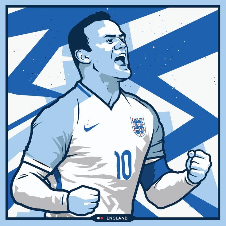 Wayne Rooney - England - Euro 2016 by Kieran Carroll Design