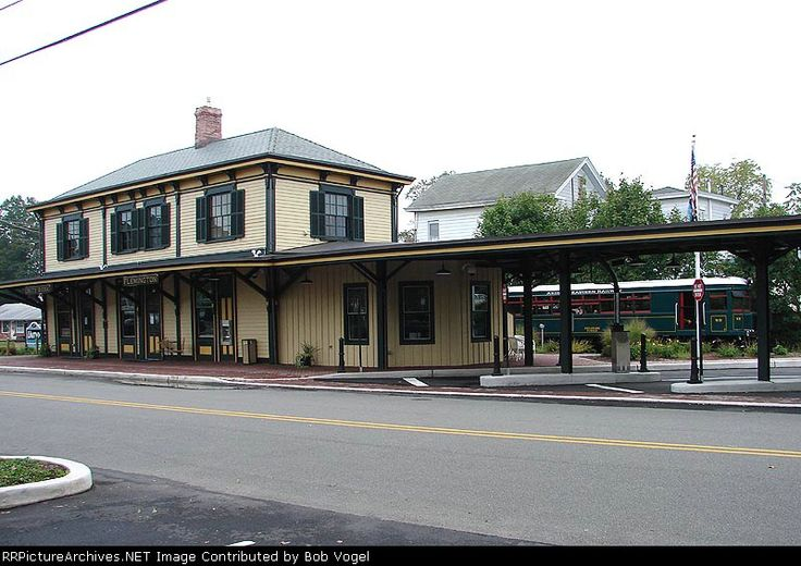 Flemington, NJ Central Railroad of New Jersey station - beautifully restored as a branch of Unity Bank.