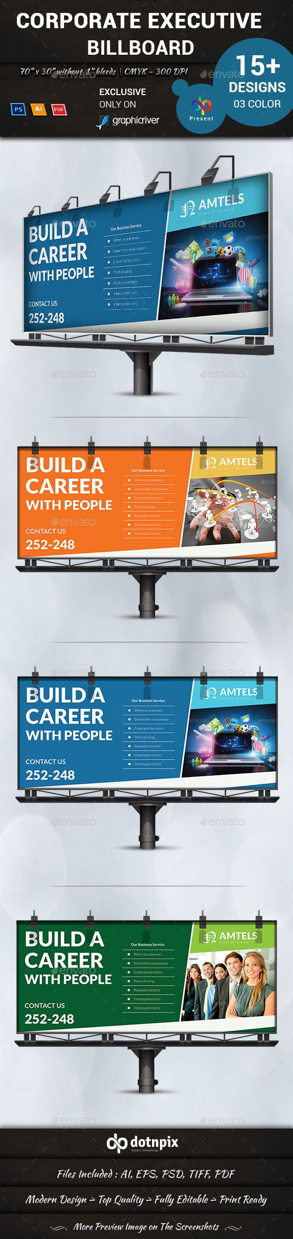 Corporate Executive Billboard — Photoshop PSD #contemporary #advertising • Available here → https://graphicriver.net/item/corporate-executive-billboard/11062603?ref=pxcr
