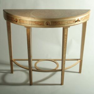 Contemporary Demilune Console Table