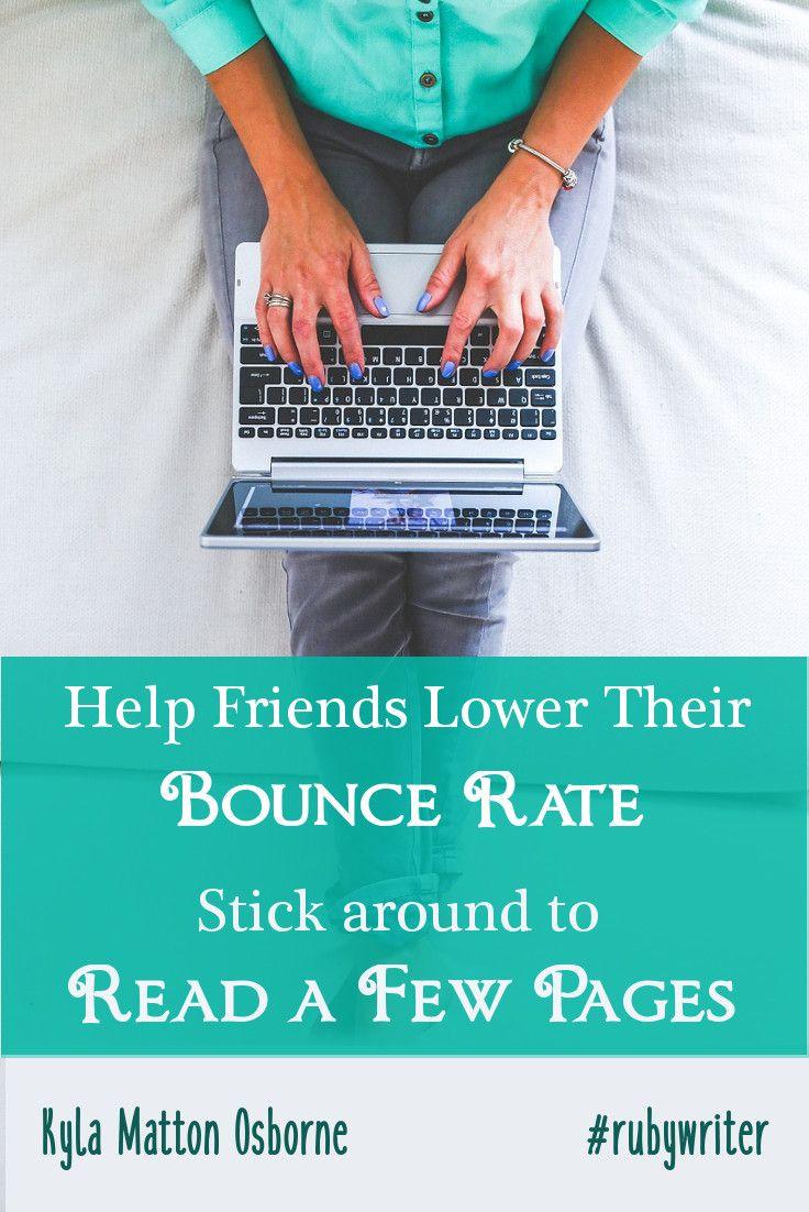 How to Help Friends Lower Their Bounce Rate | Kyla Matton Osborne | #blogging #Google #SEO
