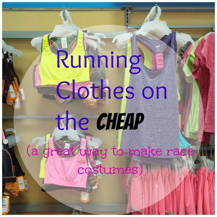 A Great way to transform those cheap running clothes into costumes.