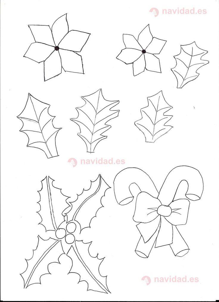 Plantilla flor navidad manualidades navidad pinterest - Manualidades para hacer en navidad ...
