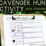 { Scavenger Hunt Activity with Printable }